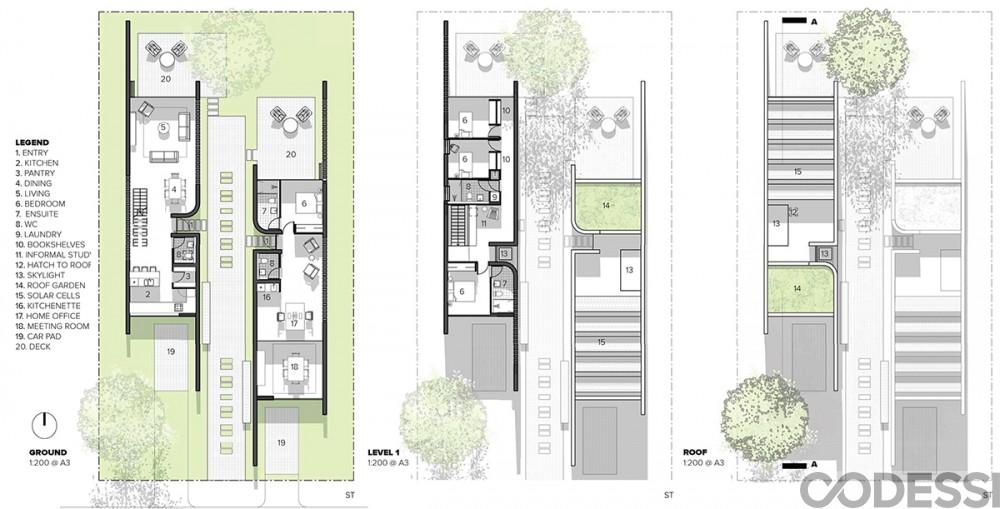 CODESSI – Laneway House Floor Plans
